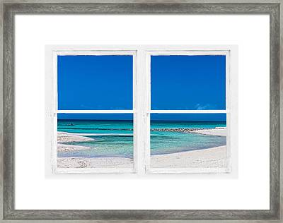 Tropical Blue Ocean Window View Framed Print by James BO Insogna