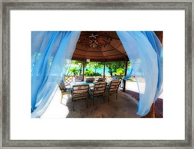 Tropical Breeze Framed Print by George Oze