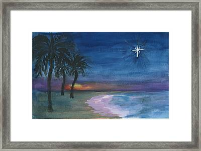 Framed Print featuring the painting Tropical Christmas by Donna Walsh