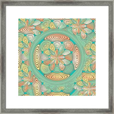 Tropical Color Abstract Framed Print by Gaspar Avila
