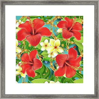 Tropical Color Party Framed Print