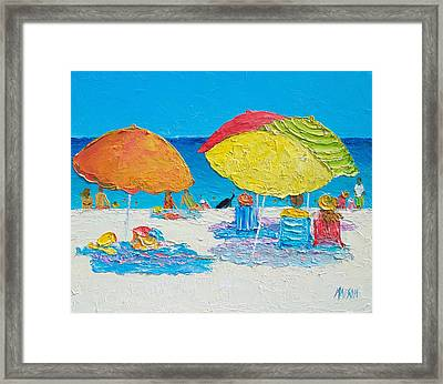 Tropical Colors - Beach Painting Framed Print