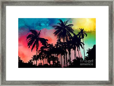 Tropical Colors Framed Print