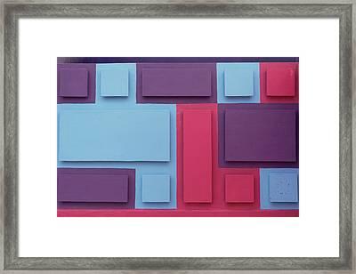 Tropical Composition Framed Print