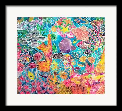 Algae Paintings Framed Prints