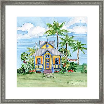 Tropical Cottage II Framed Print