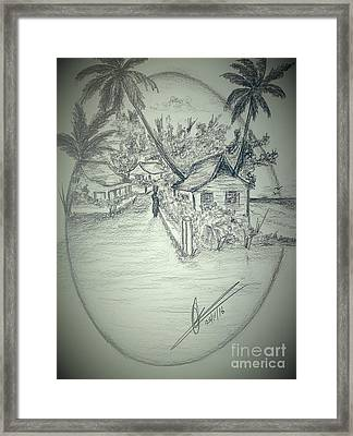Tropical Country Living Framed Print