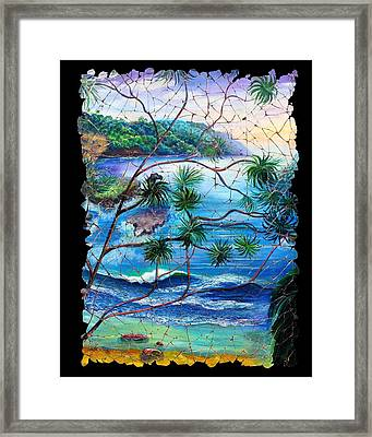 Tropical Cove  Fresco Triptych 2 Framed Print