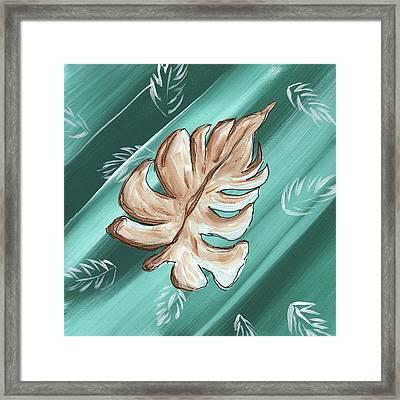 Tropical Dance 1 By Madart Framed Print by Megan Duncanson
