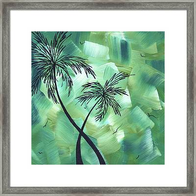 Tropical Dance 3 By Madart Framed Print by Megan Duncanson