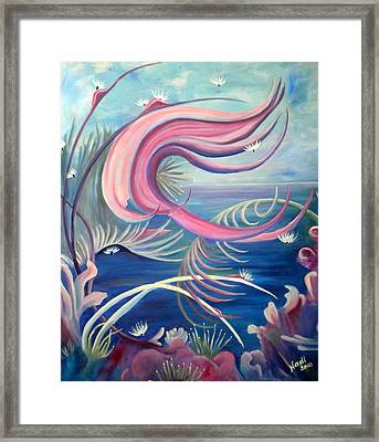 Framed Print featuring the painting Tropical Dancer by Renate Nadi Wesley