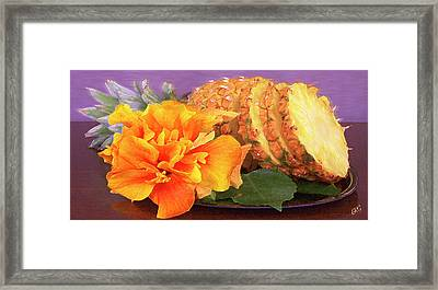Framed Print featuring the photograph Tropical Delight Still Life by Ben and Raisa Gertsberg