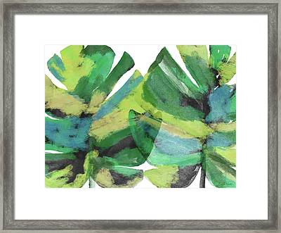 Framed Print featuring the mixed media Tropical Dreams 1- Art By Linda Woods by Linda Woods