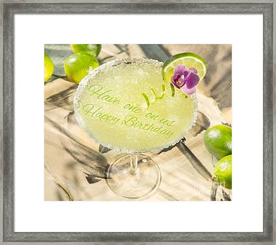 Tropical Drink Framed Print by Iris Richardson