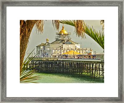 Tropical Eastbourne Framed Print by Connie Handscomb