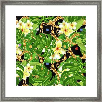 Tropical Elegant Framed Print