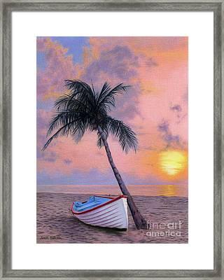 Tropical Escape Framed Print by Sarah Batalka