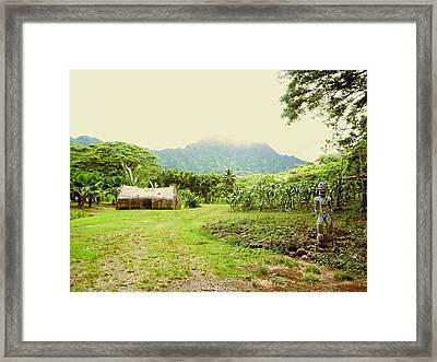 Tropical Farm Framed Print by Halle Treanor