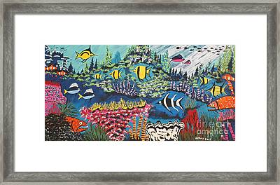 Tropical Fish Colors Framed Print by Jeffrey Koss