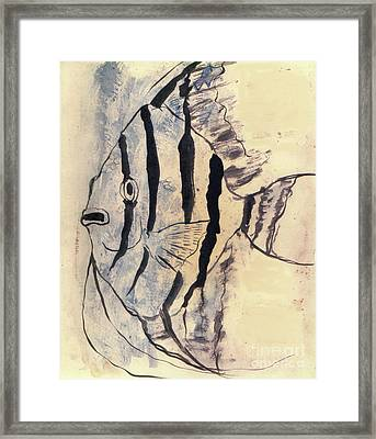 Tropical Fish Impressiion Framed Print by Doris Blessington