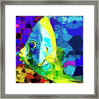 Framed Print featuring the photograph Tropical Fish In Abstract 20170325v3 Square by Wingsdomain Art and Photography