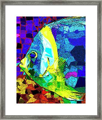 Framed Print featuring the photograph Tropical Fish In Abstract 20170325v3 by Wingsdomain Art and Photography