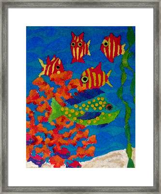 Tropical Fish Framed Print by Jeanette Lindblad