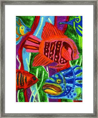 Tropical Fish Framed Print by Molly Williams