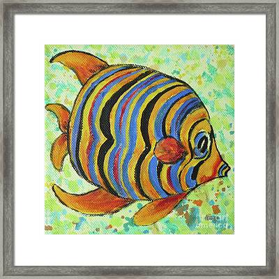 Tropical Fish Series 4 Of 4 Framed Print by Gail Kent