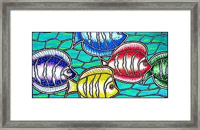 Tropical Fish Swim Framed Print by Jim Harris