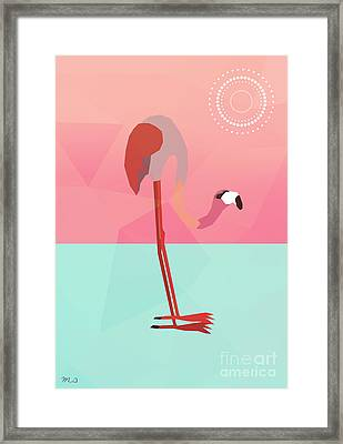 Tropical Flamingo Framed Print by Mark Ashkenazi