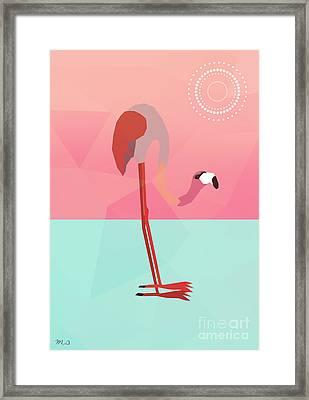 Tropical Flamingo Framed Print by Mark Ashkenazi