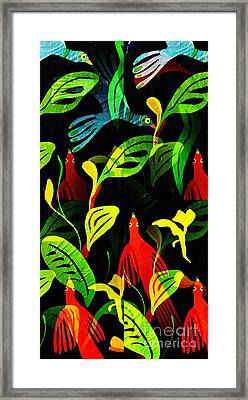 Tropical Flock Framed Print by Sarah Loft