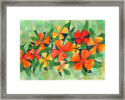 Tropical Flower Splash Framed Print