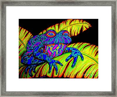 Tropical Frog Framed Print by Nick Gustafson