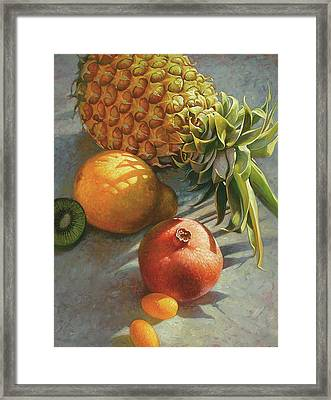 tropical Fruit Large Framed Print