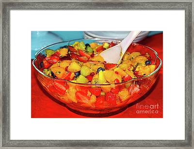 Tropical Fruit Salad By Kaye Menner Framed Print