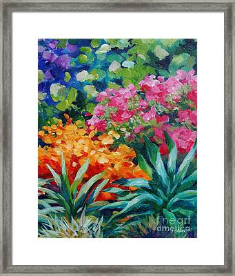 Tropical Garden 20x16 Framed Print by John Clark