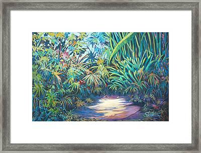 Tropical Garden Framed Print