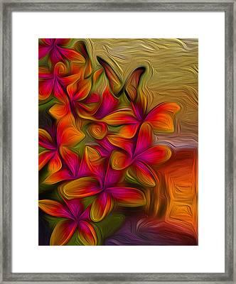Tropical Gold Framed Print