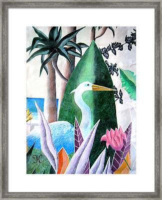 Tropical Goose Framed Print by Roger Golden