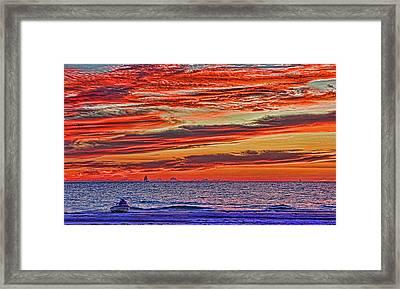 Tropical Gulf Nights Framed Print