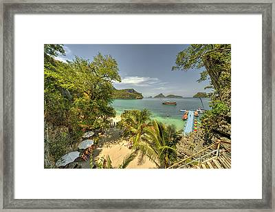 Tropical Harbour Framed Print by Rob Hawkins