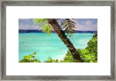 Tropical Hawaiian Palm Framed Print