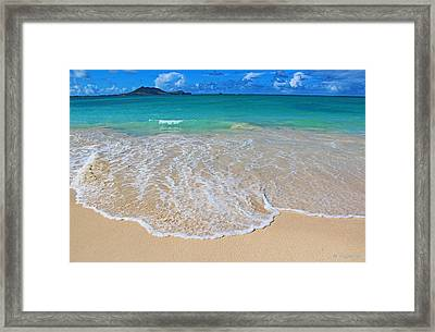 Tropical Hawaiian Shore Framed Print