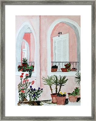 Tropical Home Framed Print by Cathy Jourdan