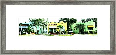 Tropical Homes Framed Print