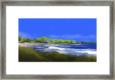 Tropical Island Coast Framed Print