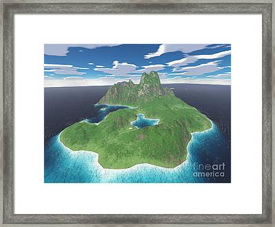 Tropical Island Framed Print by Gaspar Avila