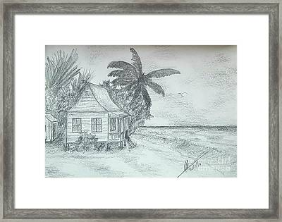 Tropical Island Sea Framed Print